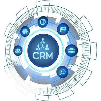 Salesforce services represented by CRM icons