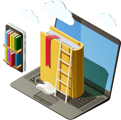 Salesforce training represented by virtual books