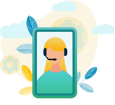 Salesforce Service Cloud represented by customer representative on phone