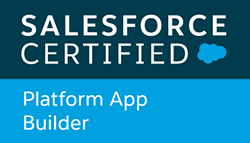 Salesforce Certified Platform App Builder badge