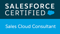 Salesforce Certified Sales Cloud Consultant badge